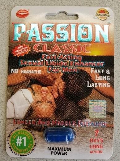 Passion Classic Maximum Power - Amélioration de la performance sexuelle (Groupe CNW/Santé Canada)