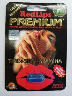 Red Lips Premium Triple Maximum - Amélioration de la performance sexuelle (Groupe CNW/Santé Canada)