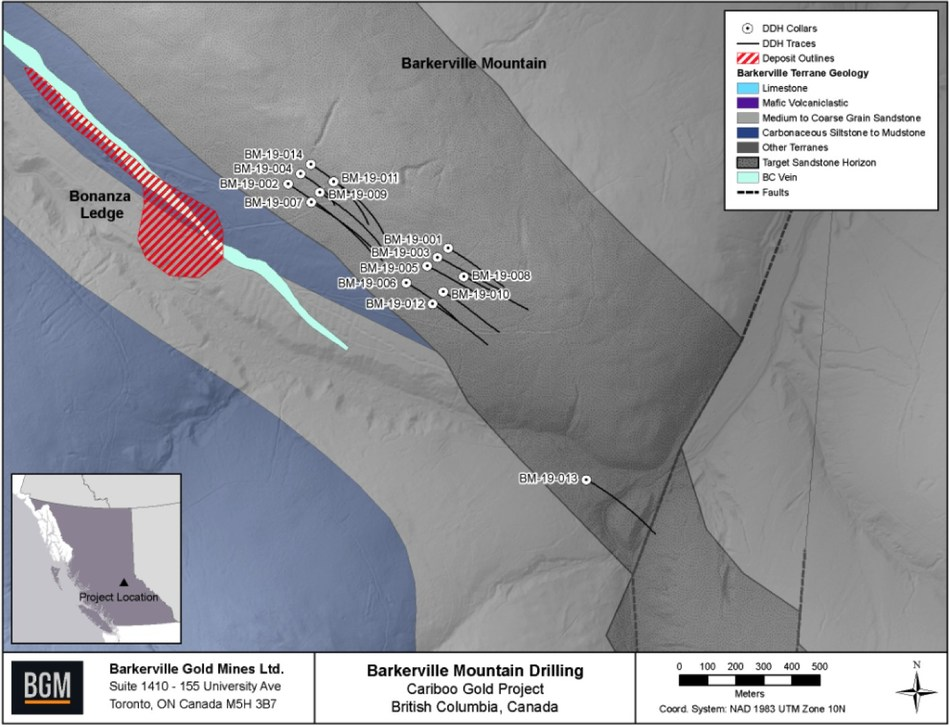 Barkerville Mountain Drilling (CNW Group/Barkerville Gold Mines Ltd.)