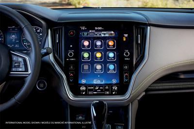 Le système d'infodivertissement à écran tactile vertical de 11,6 po livrable en option dans l'Outback 2020 reflète plus fidèlement la forme et la fonctionnalité d'un téléphone intelligent ou d'une tablette. (Groupe CNW/Subaru Canada Inc.)