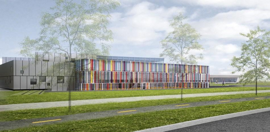 Extérieur de l'École, chemin de la Savane (Groupe CNW/Commission scolaire Marie-Victorin)
