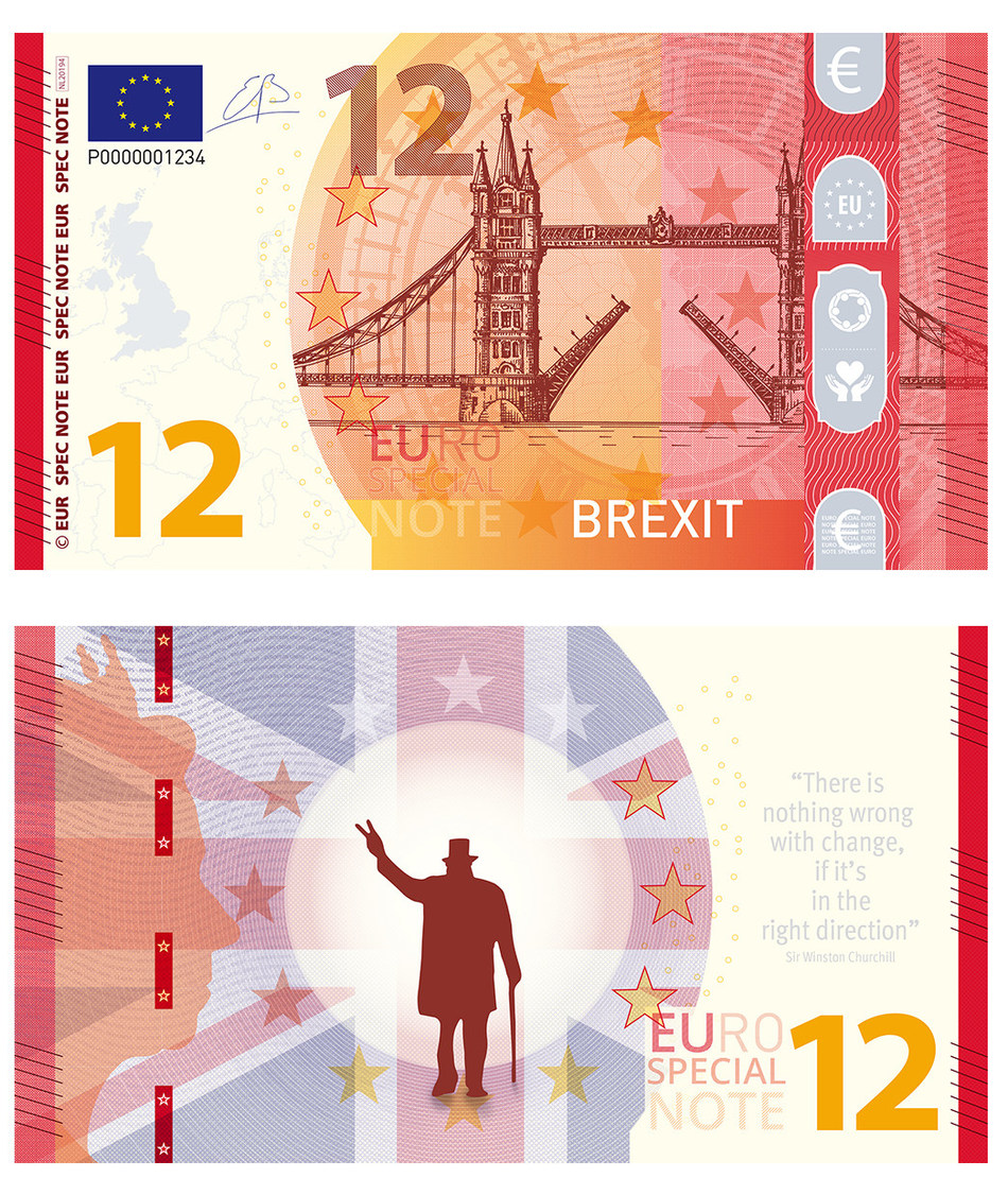 The front and back of the Brexit Euro Special Note