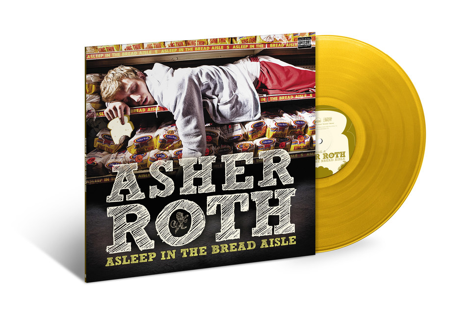 In April 2009, Asher Roth released his game-changing debut album, 'Asleep In The Bread Aisle.' Now, in celebration of its 10th anniversary, the album will make its vinyl release debut on June 21 via SRC/UMe. Starting today, the limited edition gold vinyl LP is available for pre-order on Asher's store, where fans can also cop an exclusive hoodie to celebrate the anniversary. A new expanded deluxe digital edition of 'Asleep In The Bread Aisle' with three bonus B-sides is available now.