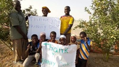 Communities benefiting from One Bottle One Tree program thank Trinity Oaks