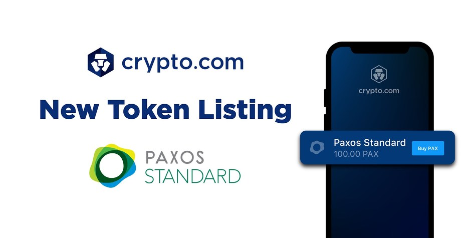 Crypto.com Lists PAX, World's First Regulated Stablecoin