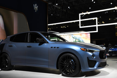 Ray Allen's 'One of One' customized Maserati Levante GTS SUV at New York International Auto Show