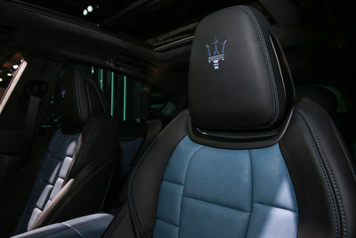 "Interior of Ray Allen's ""One of One"" customized Maserati Levante GTS SUV"