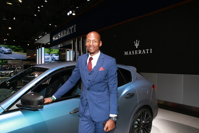 "Two time NBA Champion Ray Allen receives his ""One of One"" customized Maserati Levante GTS SUV at the New York Auto Show"