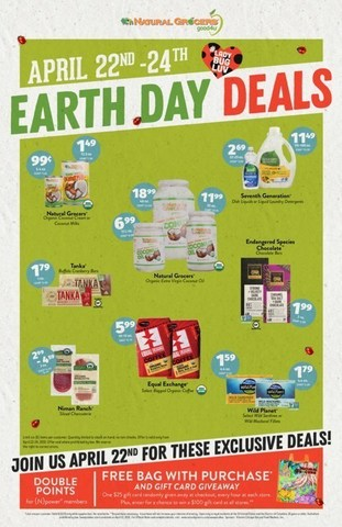 Unearth these great deals at Natural Grocers on Earth Day.