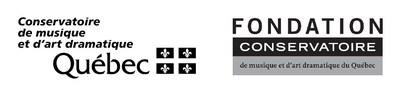 Logos du Conservatoire de musique et d'art dramatique du Québec et de la Fondation du Conservatoire de musique et d'art dramatique du Québec (Groupe CNW/Conservatoire de musique et d'art dramatique du Québec)