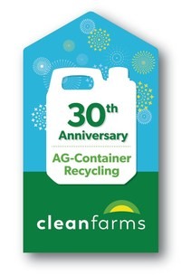 Cleanfarms Container Recycling Program - 30th anniversary logo (CNW Group/CleanFARMS Inc.)