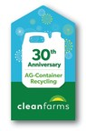 Cleanfarms Calling for Farmers to Recycle 100% of Plastic Ag Jugs to Mark 30th Anniversary