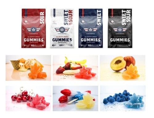Redesigned packaging and new flavor profile for CannAmerica gummies (CNW Group/CannAmerica Brands Corp.)