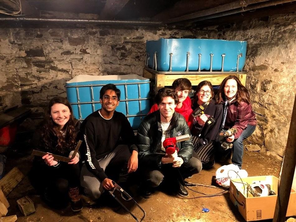 High School Grand Prize–winning team, Aquapals, from Arlington High School in Lagrangeville, NY