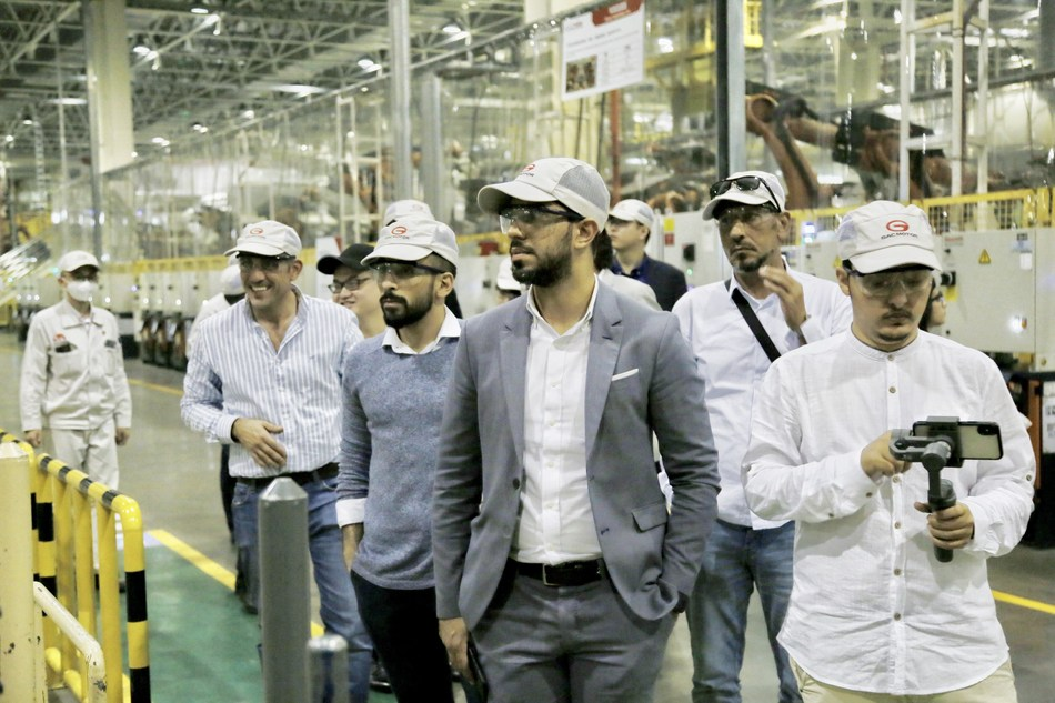 Mainstream Media from the Middle East at GAC Motor's Factory