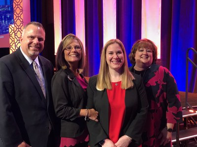 From left to right: Steve Martin - senior regional vice president, Brenda Shadowen - executive director, Lindsay Vayda and Mary Sue Patchett - executive vice president of Community Operations