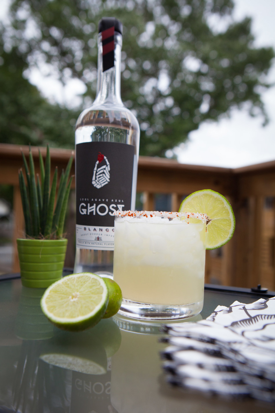 The Ghost Margarita, made with ultra-premium 100% agave Ghost Tequila, is the perfect spicy cocktail for Cinco de Mayo, or any occasion.