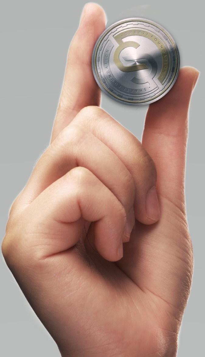 Send it. Lend it. Spend it. It's simple. Shakti Coin! (PRNewsfoto/Swiss Shakti Stiftung)