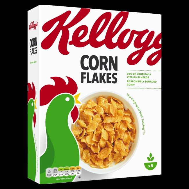 Responsibly Sourced Kellogg's Corn Flakes(R) Sold in Europe