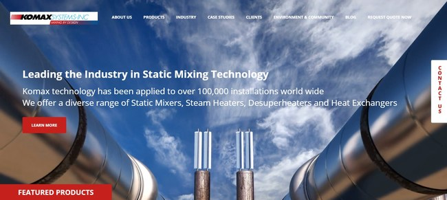Komax Launches New Website to Give Visitors a More Efficient