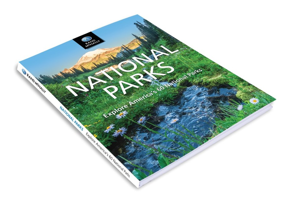 Rand McNally's new National Parks book celebrates the history and beauty of U.S. National Parks. The book features large photographs, detailed maps, and overviews of 60 parks.