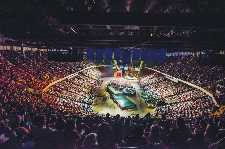 Legacy Arena in the Birmingham-Jefferson Convention Complex was packed for weigh-ins during the 2014 Bassmaster Classic at Birmingham and Lake Guntersville, Ala. Crowds are expected to be even bigger in March 2020, when the 50th World Championship of Bass Fishing will be held in Birmingham.