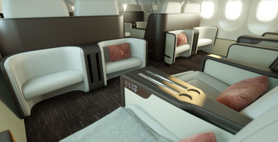 The spacious interior will also allow guests to socialise more easily while seated.