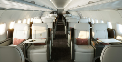 The new Four Seasons Private Jet offers the widest and tallest cabin in its class.