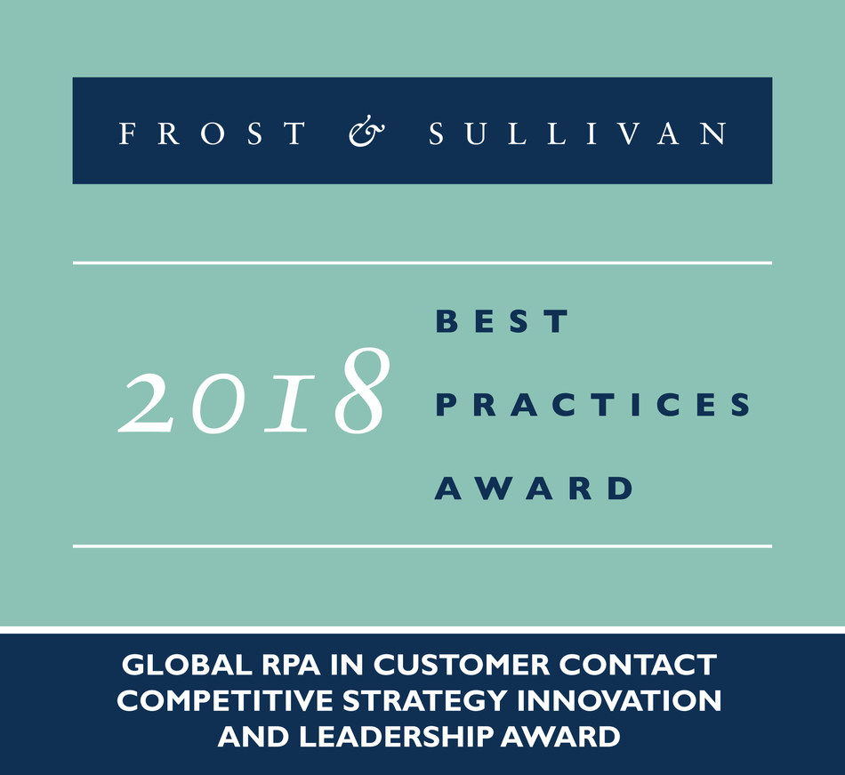 2018 Global RPA in Customer Contact Competitive Strategy Innovation and Leadership Award