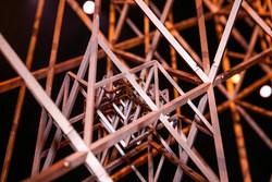 Close-up shot of the Bulleit 3D Printed Bar.