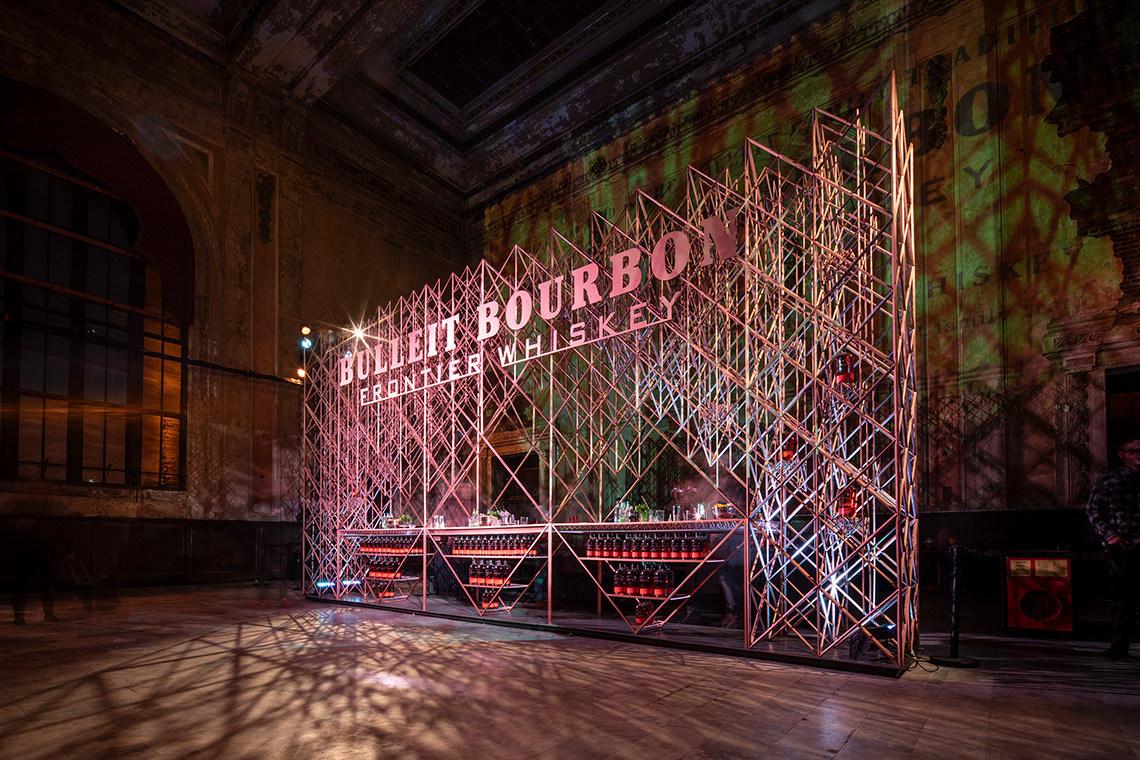 Bulleit 3D Printed Frontier Bar at its previous stop in cultural hotspot Oakland, CA.