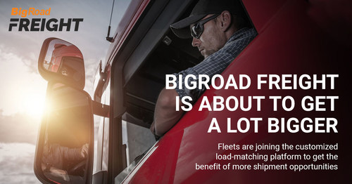 Following the immense success of its pioneering load-matching platform for owner-operators needing to account for Hours of Service, BigRoad Freight extends its services to fleet-wide dispatch. (CNW Group/Fleet Complete)