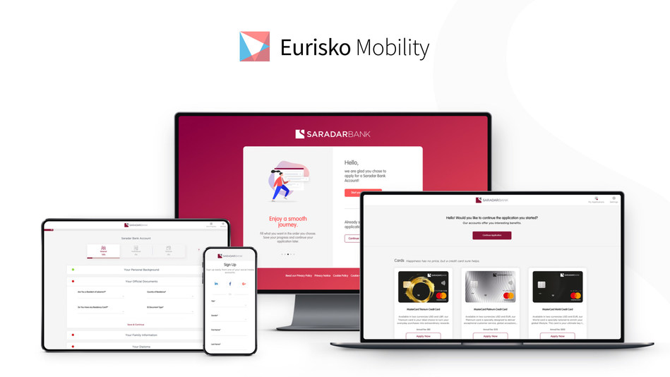 Saradar Bank Digital Onboarding System developed by Eurisko Mobility