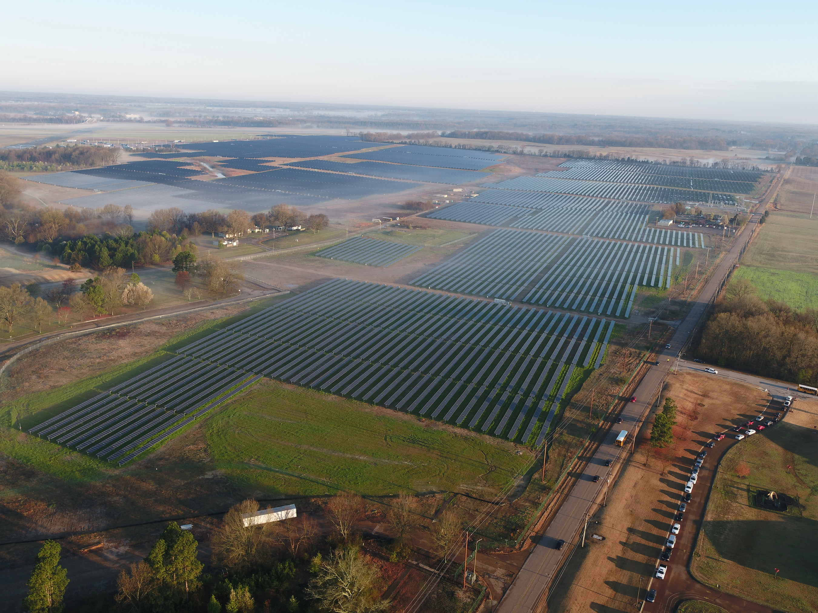 Tennessee's Largest Solar Farm Is Now Operational at Millington Naval Facility - Photo Courtesy of Silicon Ranch