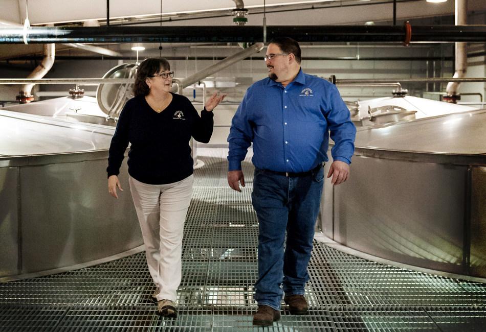 Michter's Master Distiller Emerita Pam Heilmann and Michter's Master Distiller Dan McKee