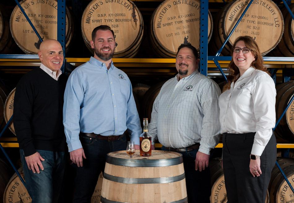 (from left to right) Michter's President Joseph J. Magliocco, Michter's Distiller Matt Bell, Michter's Master Distiller Dan McKee, Michter's Master of Maturation Andrea Wilson
