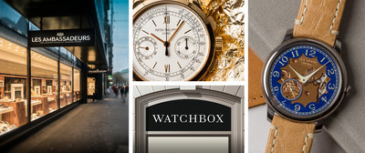 WatchBox opens the doors for buying, selling, and trading certified pre-owned timepieces in Zurich, Geneva, Lucerne, and Lugano in partnership with Les Ambassadeurs, expanding the WatchBox Authorized Dealer network.