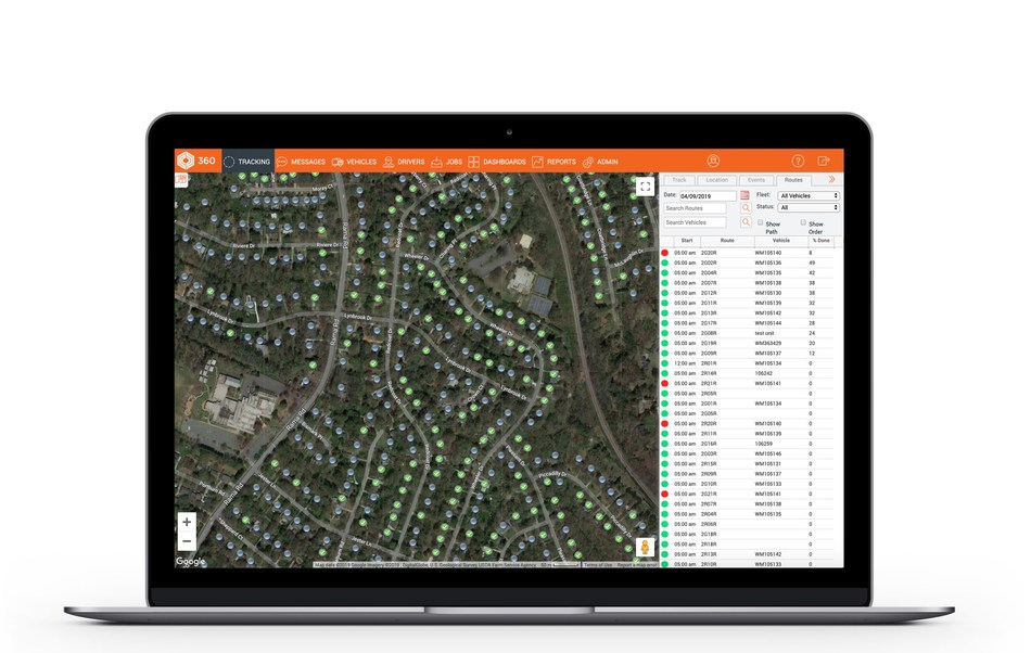 Coretex's Smart Waste real-time proof of service feature.