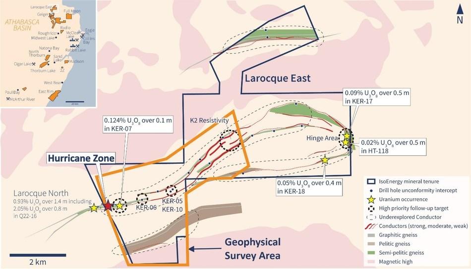 Figure 2 – DC-Resistivity Survey Area (CNW Group/IsoEnergy Ltd.)
