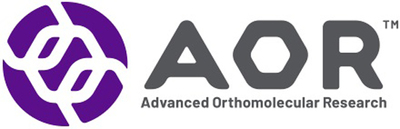 Advanced Orthomolecular Research (AOR) Logo (PRNewsfoto/Advanced Orthomolecular Researc)