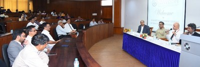 Panel discussion underway with eminent industry representatives (PRNewsfoto/Alliance University)
