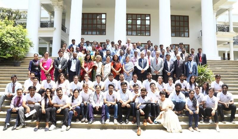 Delegates and student volunteers along with Dr. Furqan Qamar (PRNewsfoto/Alliance University)