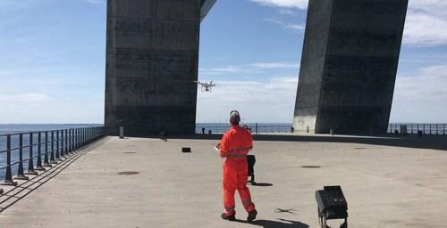 Using drones for inspection. Credit: Sund & Bælt