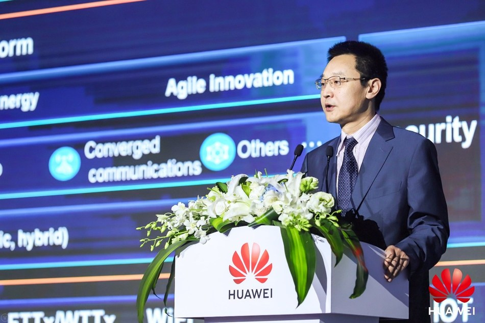 Ma Yue, vice-président de Huawei Enterprise BG et président de EBG Global Sales (PRNewsfoto/Huawei)