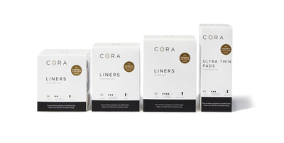 Cora's pads and liners for light bladder leaks are made with organic cotton and are free of the most egregious chemicals and toxins found in conventional incontinence products.