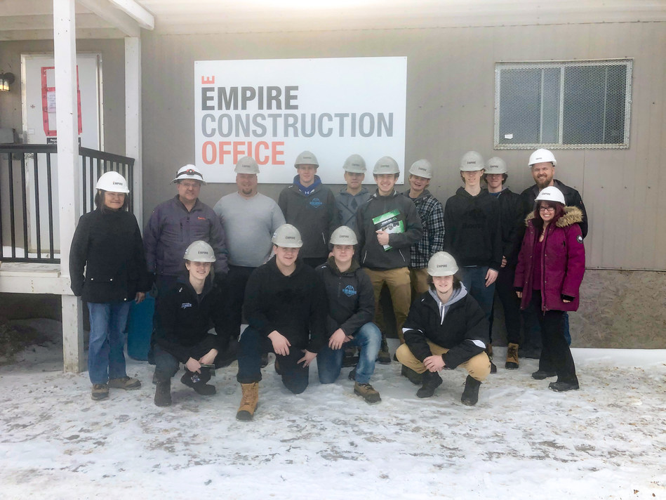 McKinnon Park Secondary School and Empire Communities kick off their co-op program at Empire Avalon and Wyndfield communities. (CNW Group/Empire Communities)