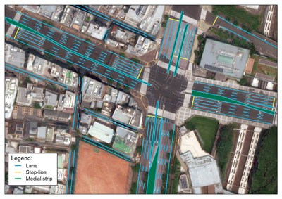 An example of the automated HD map for autonomous vehicles built by NTT DATA, Maxar Technologies and TRI-AD. (CNW Group/Maxar Technologies Ltd.)