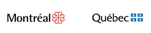 Logos de la ville de Montréal et du gouvernement du Québec. (Groupe CNW/Environnement et Changement climatique Canada)