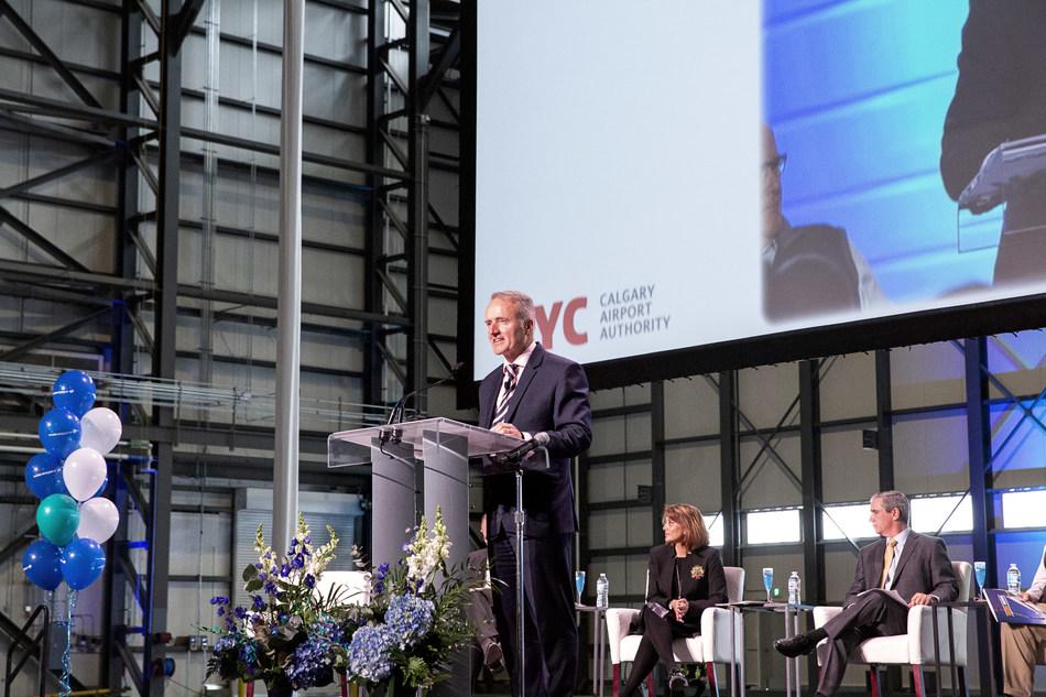 WestJet today celebrated the opening of its new Dreamliner maintenance hangar at its hub at Calgary International Airport (YYC) (CNW Group/WESTJET, an Alberta Partnership)