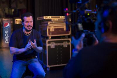 John Leguizamo on set for his new Pepsi commercial